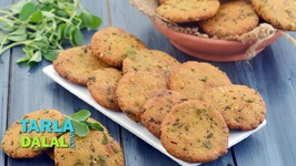 Tarla Dalal Favourite Recipe - Methi Makai Dhebra - Tea Time Snack