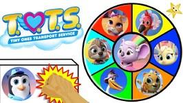 Winning Goldie's Treasure of Disney Junior T.O.T.S. Toys in Spinning Wheel Game