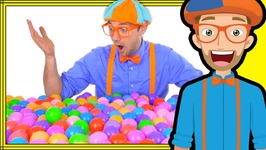 Blippi Plays and Learns at the Indoor Playground- Learn Colors and More