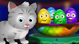 Surprise Eggs Nursery Rhymes Toys - Ding Dong Bell - Learn Colours and Objects