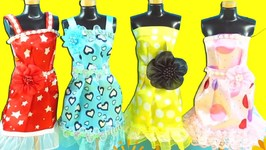 Barbie Party Dress - Barbie Dress Up Video - DIY Decorate Barbies Dress