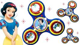 DIY How to Make Giant Fidget Spinner Glitter Play Doh Sparkle Disney Princess Snow White Clay Kids