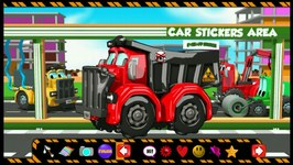 Dump Truck - Car Wash - Games For Toddlers - Red Dump Truck
