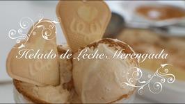 Helado De Leche Merengada /Helado Casero / Como Hacer Helado De Leche Merengada / Leche Merengada