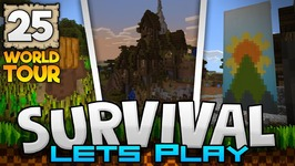 MY SURVIVAL WORLD TOUR - Survival Let's Play Ep. 25 - Minecraft 1.2 - PE W10 XB1