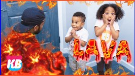 The Floor is Lava Challenge with The Lava Monster! Pretend Play