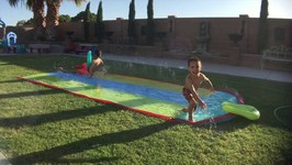 Small Prank and Slip and Slide Fun