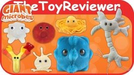 Giant Microbes Plush Stuffed Animals Germs Blood - Brain Cells Unboxing Toy Review