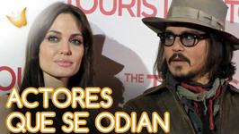 Angelina Jolie y Johnny Depp y otras parejas de cine que se odian