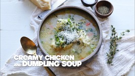 Creamy Chicken and Dumpling Soup