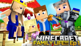 MINECRAFT FAMILY LIFE!! (EP.1) - LITTLE DONNY'S FAMILY VACATION!