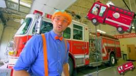 Blippi Explores Fire Trucks for Children  Blippi Fire Truck Song