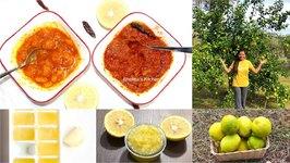 Instant Lemon Preserves Jam Nimbu Achar Video Recipes