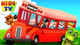 Wheels On The Bus - Junior Squad Cartoons- Songs For Babies