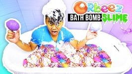 SLIME ORBEEZ BATH BOMB BATH CHALLENGE