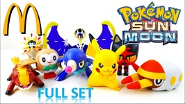McDonalds Pokemon Sun And Moon 2017 Happy Meal Toys Full Set