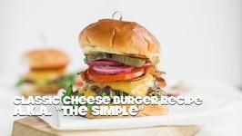 Classic Cheeseburger Recipe On Brioche With Lettuce Tomato And Onions