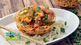 Noodle Basket With Vegetable Stir Fry