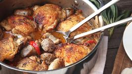 Chicken Scarpariello (Italian Sweet-and-Sour Chicken with Sausage)