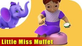 Little Miss Muffet - English Nursery Rhyme For Children