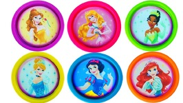 Play Doh Disney Princess Rapunzel Cinderella Ariel Learn Colors