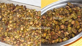 Oven Baked Okra - Bhindi Sabzi Quick And Easy Way