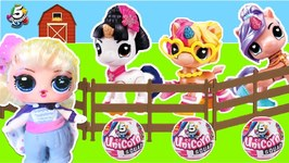 Toy Story 4 Woody, Jessie  Bo Peep Open a UNICORN FARM w/ 5 Surprise Unicorn Squad Toys