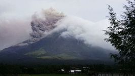 Mayon Volcano Continues to Spew Steam and Ash Above Legazpi City