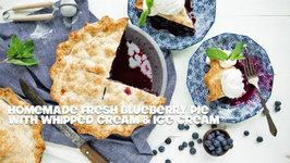 How To Make A Blueberry Pie With Ice Cream And Whipped Cream