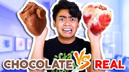 CHOCOLATE FOOD VS REAL FOOD - Hearts, Alligator, Shark, and more