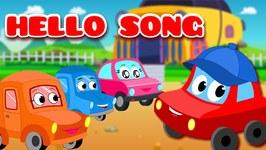 Hello Song - Nursery Rhyme - Car Cartoons