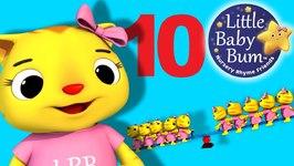 Ten Little Animals - Numbers Song - Nursery Rhymes