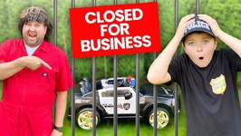 Closed For Business! Pretend Play Police Kids Video Skit