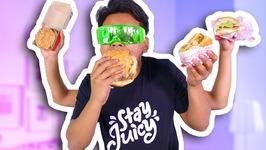 BLIND BURGER TASTE TEST CHALLENGE - McDonalds, Burger King, and more