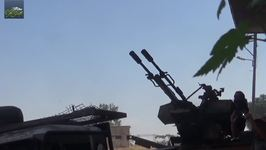 Opposition Militia Tanks, Anti-Aircraft Weapons Shoot at Syrian Regime Positions in Hama