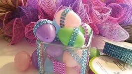 Bling Wrap Easter Egg Decor - Dollar Tree Crafts