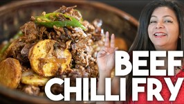 Beef Chilli Fry - Easy Pressure Cooker Recipe - Kravings