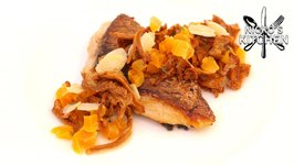 Grilled Snapper With Girolle Mushroom And Apricot / Low Carb Recipe