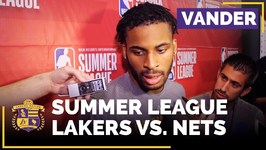 Lakers Summer League - Vander Blue On 27 Point Game, Chemistry With Lonzo Ball
