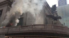 Vehicle Fire Near Grand Central Station In New York