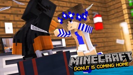 Minecraft-DONUT MOVES HOME TO THE MAGICAL KINGDOM!!