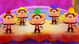 Five Little Monkeys - Nursery Rhyme With Lyrics - Kids Tv Nursery Rhymes