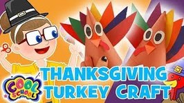 Thanksgiving Turkey Crafts - Thanksgiving Crafts - Crafty Carol - Cartoons for Kids