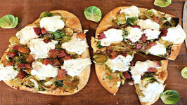 Pizza Recipe- Brussels Sprout And Pancetta Naan Pizza