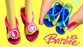 DIY Miniature Doll Shoes - For Barbie Disney Princesses And Monster High - Easy Doll Crafts