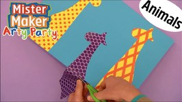 How To Make Colour Animal Shapes - Arty Party - Mister Maker