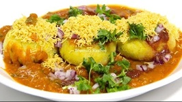 How To make Ragda Patties / Potato Patties In Dry Peas Curry