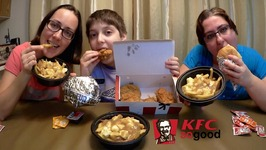 KFC Chicken, Poutine And Sandwiches /Gay Family Mukbang -Eating Show