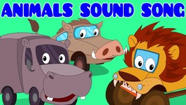 Animals Sound Song - Car Rhyme - Songs For Kids