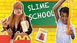 Slime School Teacher Fail Students Sneak McDonalds Happy Meal Food- New Toy School
